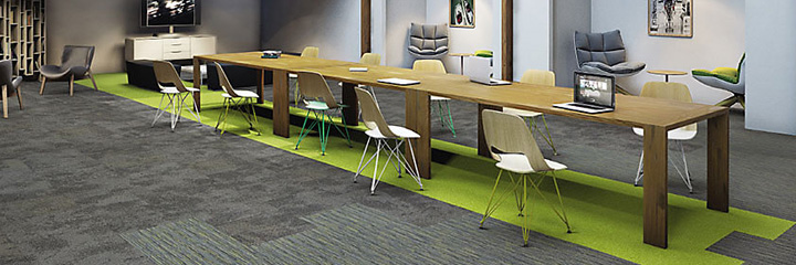 Einzigartig, modern und flexibel. Teppichfliesen bieten viele Möglichkeiten der Gestaltung.